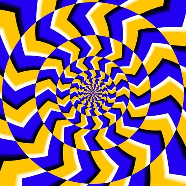 Psychedelic Optical Spin Illusion Illustration