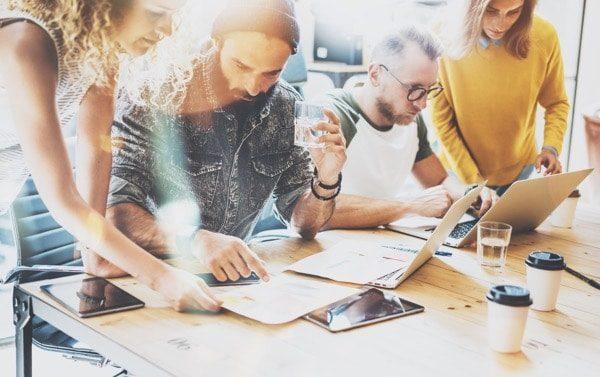Startup Diversity Teamwork Brainstorm