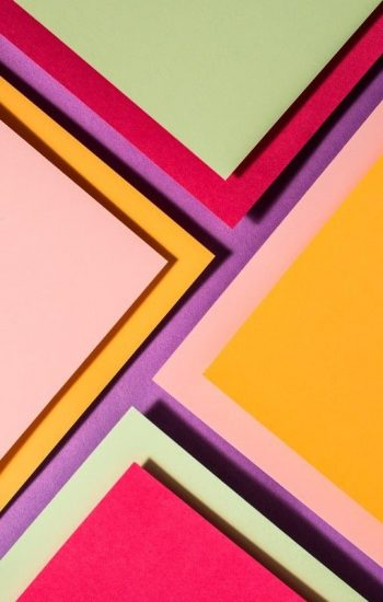 Flay Lay Paper Cuts Vibrant Colours Geometric