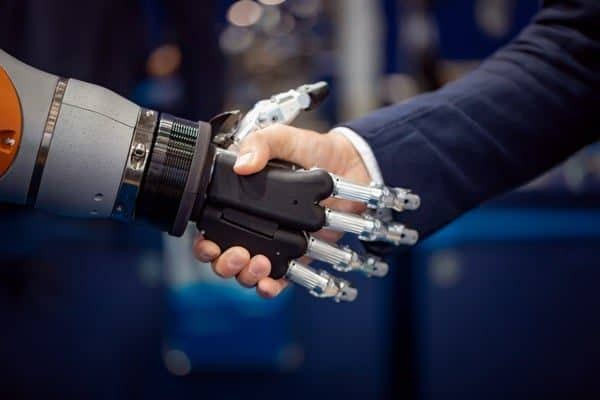 Handshake Businessman Robot