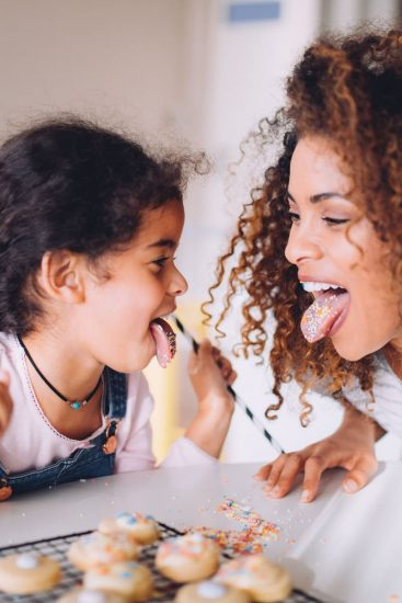 Mother Daughter Cookie Tongue