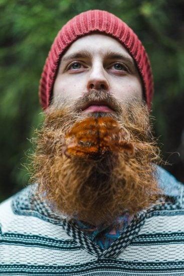 Hipster Man Beard Leaf