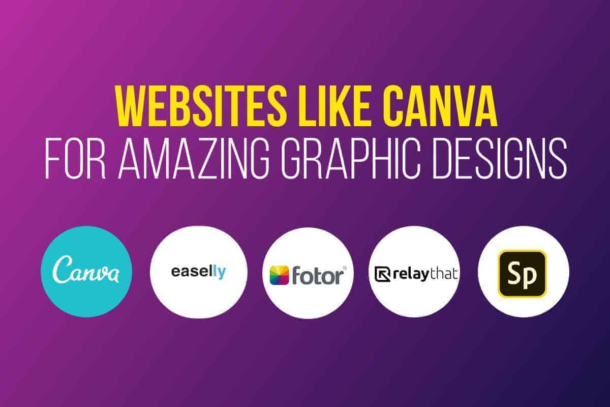 Websites Like Canva Header Updated > Best 19 Websites Like Canva for Fast & Simple Graphic Designs