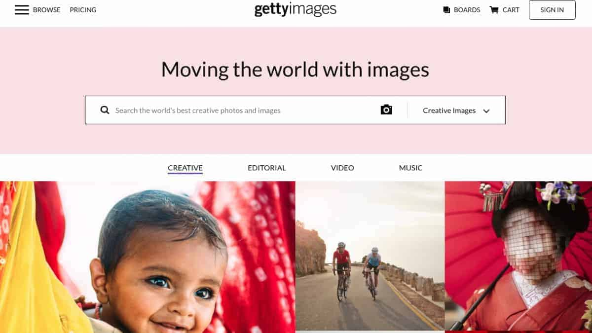 Getty Images Creative Home > Getty Images is Dropping Rights Managed Licensing in 2020
