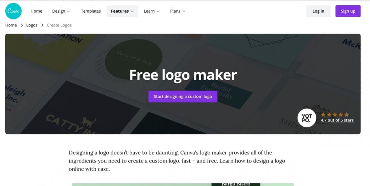 Canva Logo Maker > How to buy a company logo