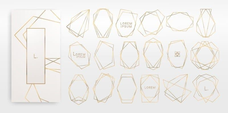 Golden Geometric Shapes