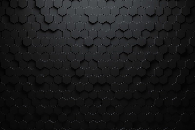Černá 3d trojúhelníkový vzor