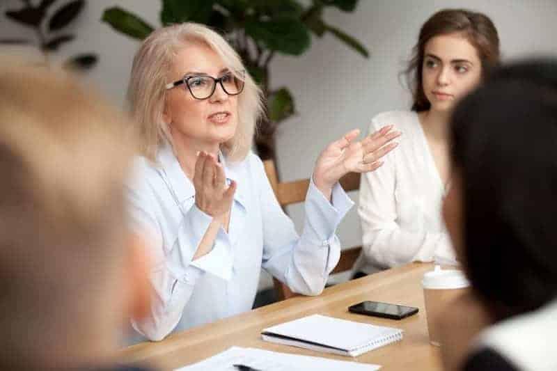 Senior businesswoman in meeting
