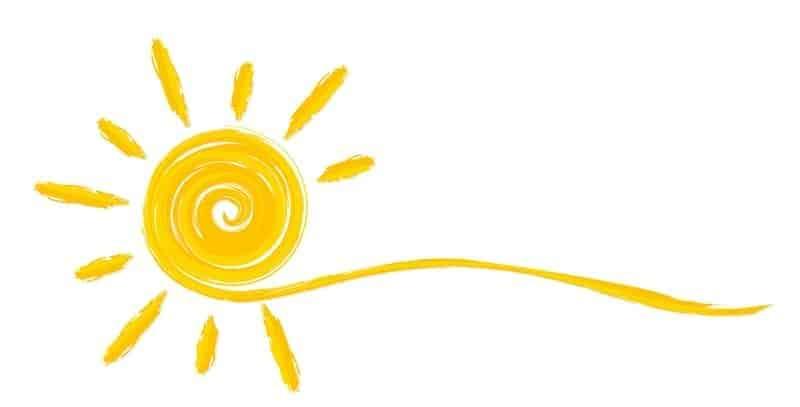 abstraktní kresba slunce