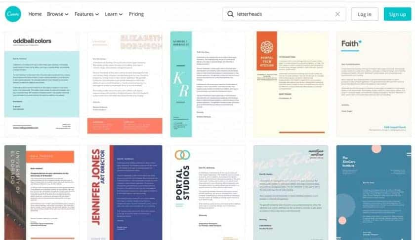 Canva Stationery Design Screenshot > The Secrets of Stationery Design for Business That You Must Know Today