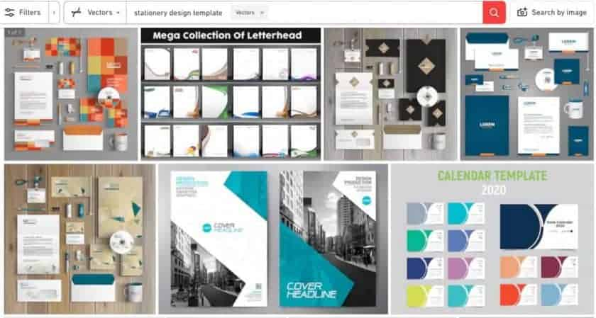 Shutterstock Stationery Design Screenshot > The Secrets of Stationery Design for Business That You Must Know Today