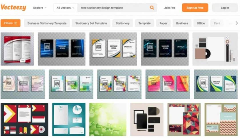 Vecteezy Stationery Design Screenshot > The Secrets of Stationery Design for Business That You Must Know Today