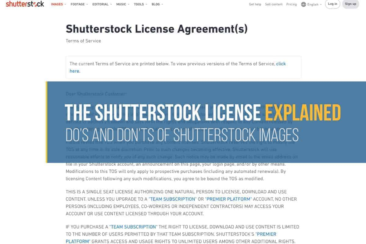 shutterstock license explained s > The Shutterstock License Explained: Do's and Don'ts of Shutterstock Images