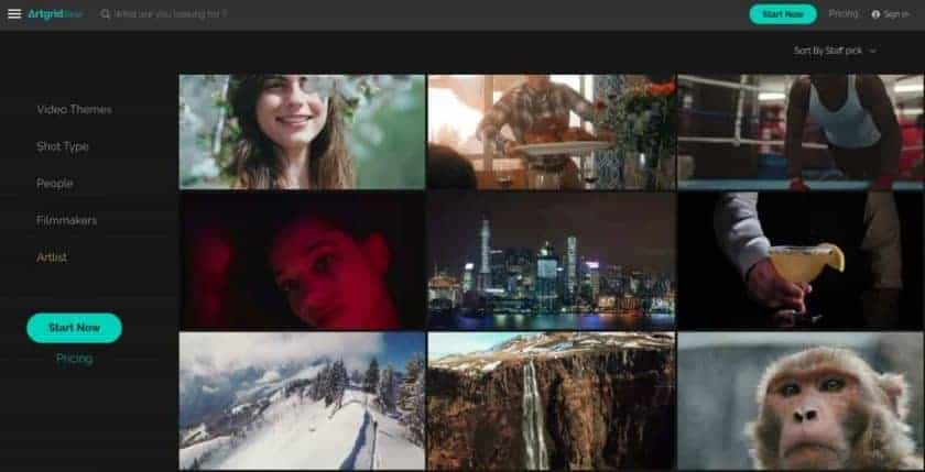 ArtGrid Homepage > Boost Your Brand with the Top 7 Best Stock Footage Sites