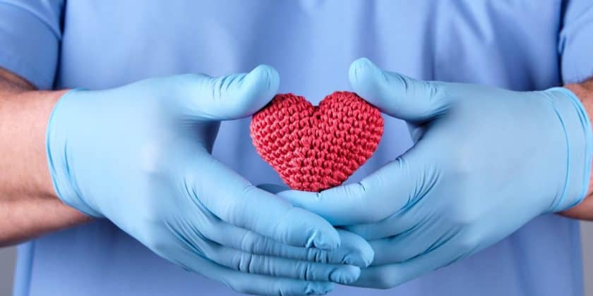 nurse latex gloves knit red heart
