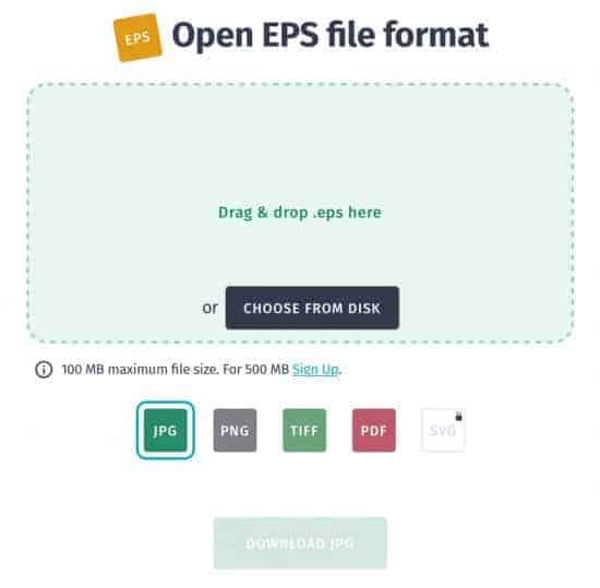 Open EPS File Format