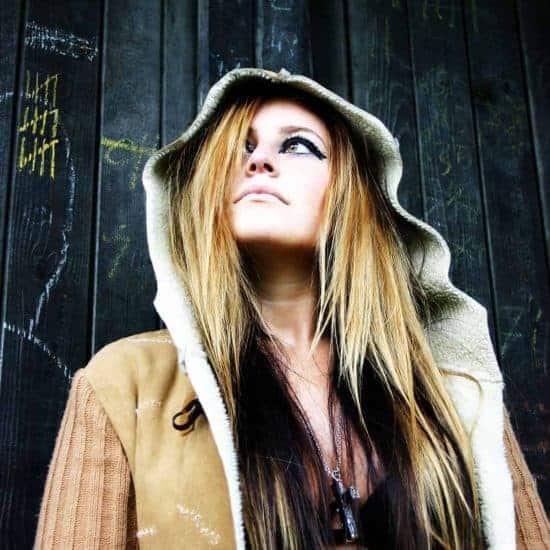 Beautiful girl with hood
