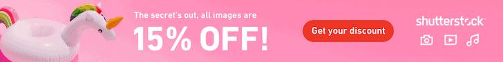 Shutterstock - 15% Off