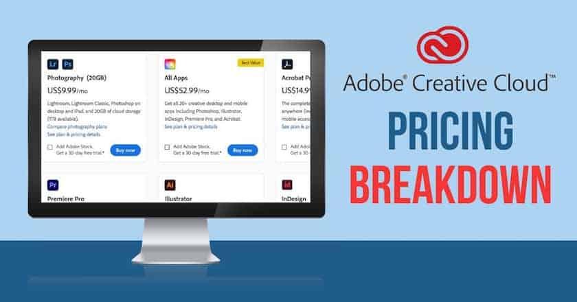 adobe creative cloud pricing breakdown > Adobe Creative Cloud Pricing Breakdown: Find your Perfect Plan
