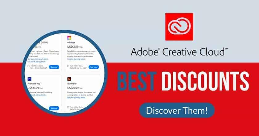 adobe creativecloud best discounts > Adobe Creative Cloud Discount: the Best Adobe Deals for Creatives!