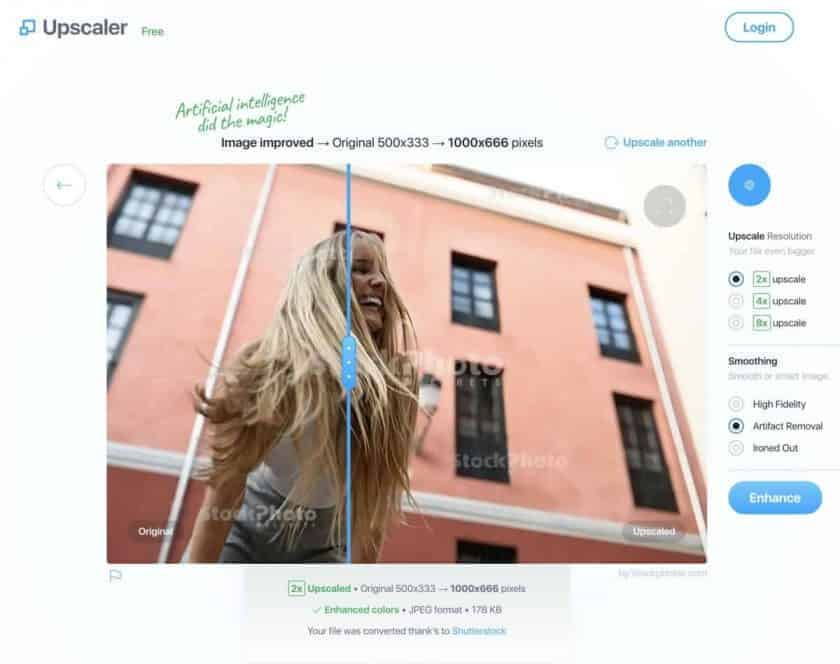 example image upscaler stockphoto > Free Tools and Software