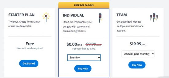 adobe spark pricing 2021 > Adobe Spark Review [wpsm_custom_meta type=date field=year] - Pricing, Features & FAQ