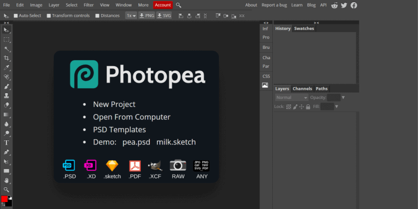 Photopea 1 > The Best Free Design Software Tools in [wpsm_custom_meta type=date field=year]