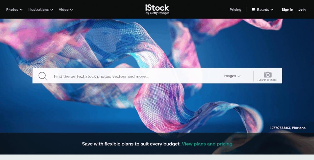 www.iStock.com homepage