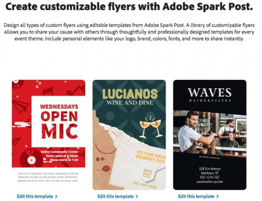 Adobe Spark print templates > The Best Cheat Trick for Marketing Materials: Templates for Prints!