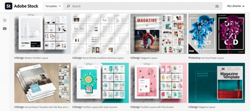 Adobe Stock print templates > The Best Cheat Trick for Marketing Materials: Templates for Prints!