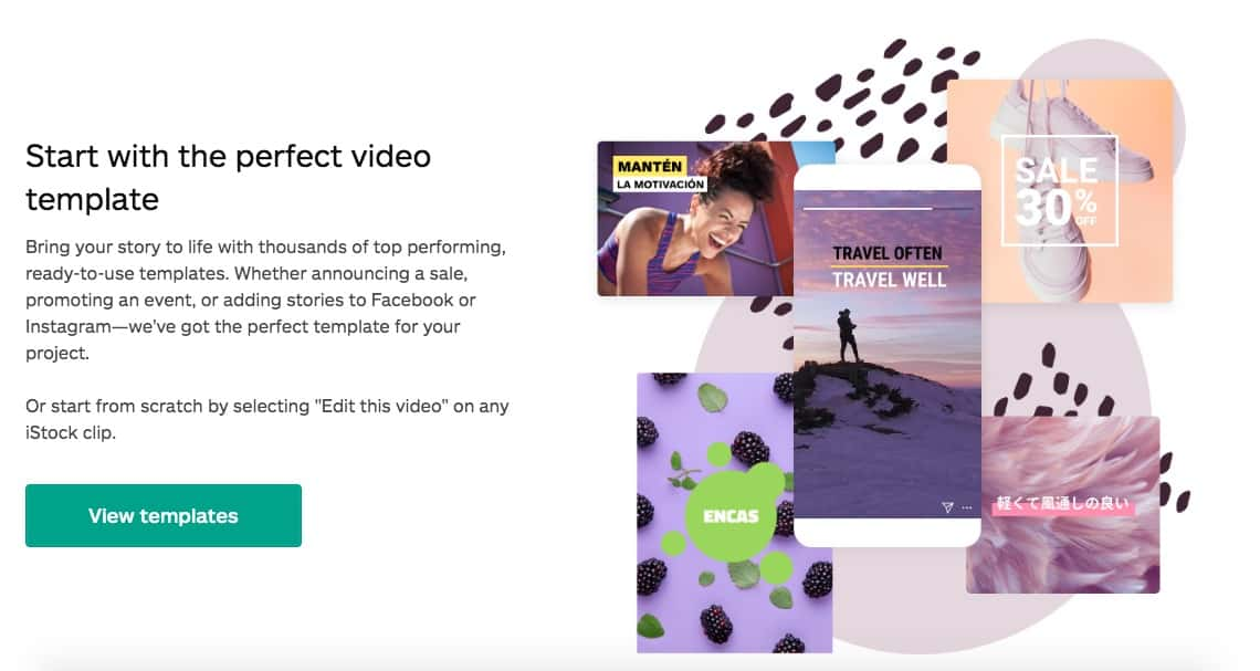 iStock Video Editor Templates > iStock Launched the iStock Video Editor