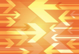 Orange Arrows Background – free vector illustration