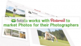 Fotolia works with Pinterest to market Photos for their Photographers
