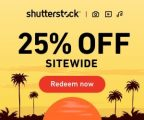 Get 25% on Everything at Shutterstock: Subscriptions and Image packs!